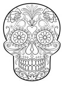 sugar skull coloring sugar skulls category select 20946 printables