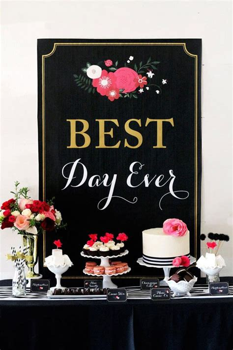 bridal shower decoration ideas black and white best day glamorous black floral bridal shower the sweetest occasion the sweetest