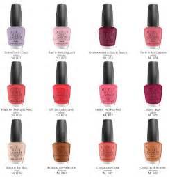 opi nail color names opi toe nail colour chart
