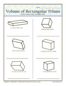 volume of rectangular prisms 6th grade geometry worksheets