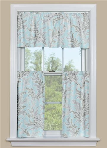 beach curtains for kitchen blue and grey beach themed kitchen curtain tempest blue