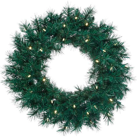 lighted wreath with timer pre lit led wreath 24 quot