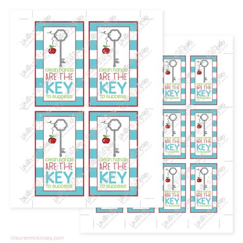 printable key labels key to my success teacher gifts printables quotes