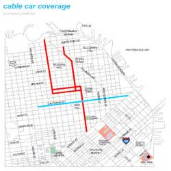 San Francisco Trolley Map by San Francisco Cable Car Route Map Pictures To Pin On