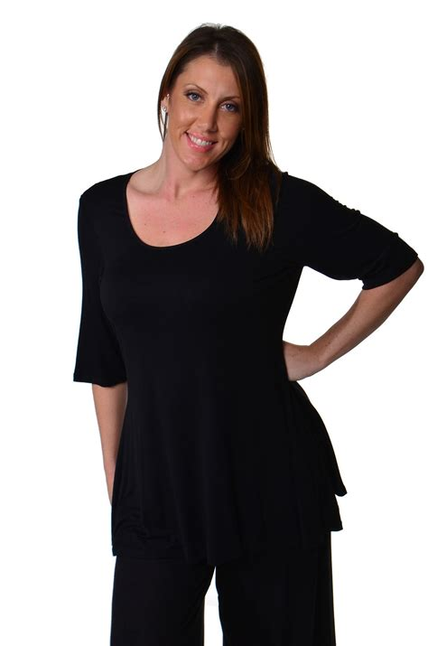 comfortable womens clothing 24 7 comfort apparel women s plus size elbow sleeve tunic