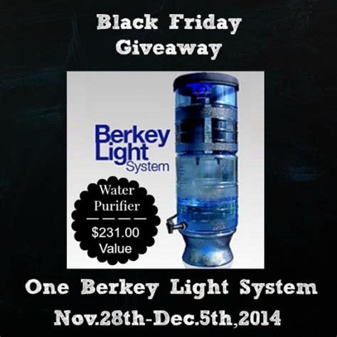 Berkey Giveaway - black friday berkey light water purifer giveaway