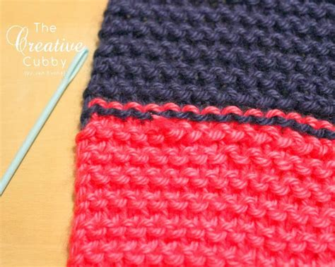 how to finish knitting a scarf the creative cubby how to finish a striped knitted scarf