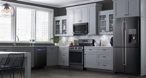 kitchen ideas with stainless steel appliances black stainless steel appliances kitchenaid breakfast bar