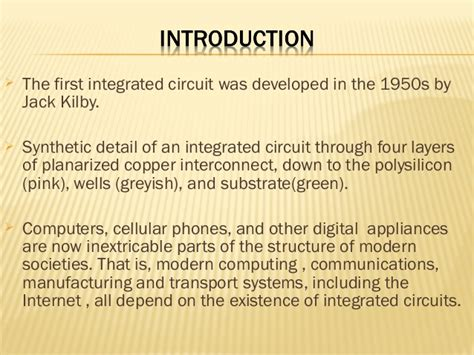 the integrated circuit era integrated circuits