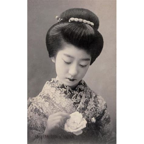 traditional japanese hairstyles how to do it old photos of japan woman with rose 1910s