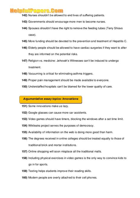 Argumentative History Essay Topics by 500 Best Topics For Argumentative Essays Docoments Ojazlink