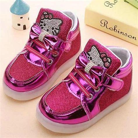 New 26 30 Kid Shoes Led Sparkly Sepatu Flat Anak Sepatu Led children shoes 2018 new hello rhinestone led shoes princess shoes with