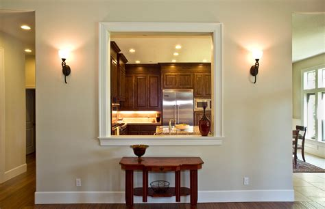 White And Dark Kitchen Cabinets by Kitchen Pass Through Window Kitchen Traditional With Dark