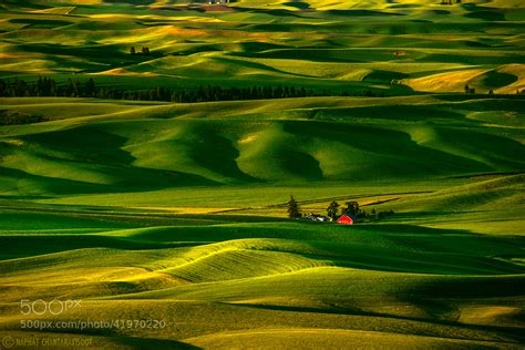 Barn House by Photograph Palouse Hills And The Red Barn By Nae