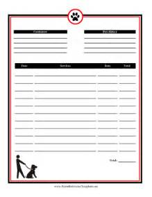 sitting template pet sitting invoice template