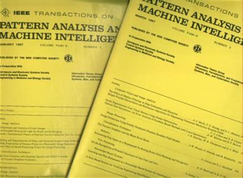 pattern analysis military intelligence ieee transactions on pattern analysis and machine