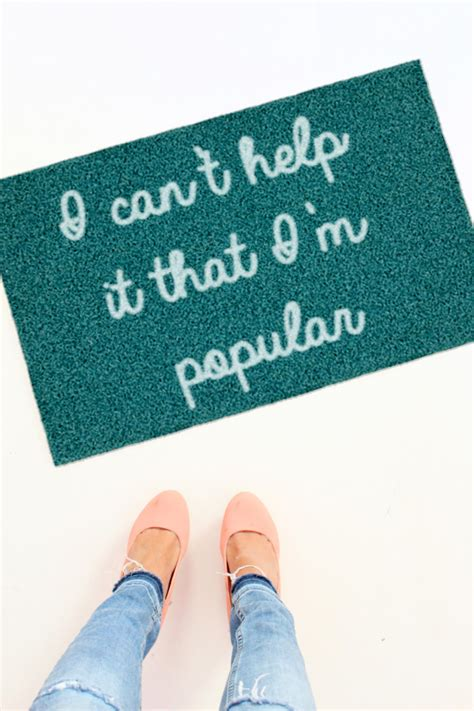 diy mean diy mean girls doormats a joyful riot