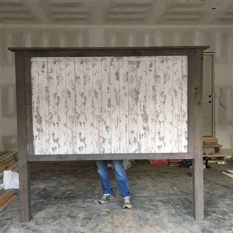 White Farmhouse Headboard by White Farmhouse King Headboard Made It Longer