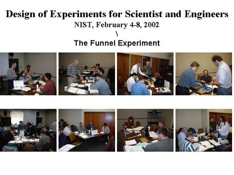 nist experimental design course notes photos from design of experiments class
