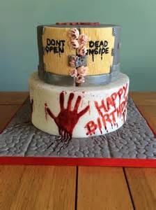 walking dead birthday cake cake by kizzy s cakes cakesdecor