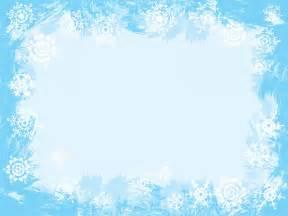 light blue snowflake frame ppt backgrounds blue border