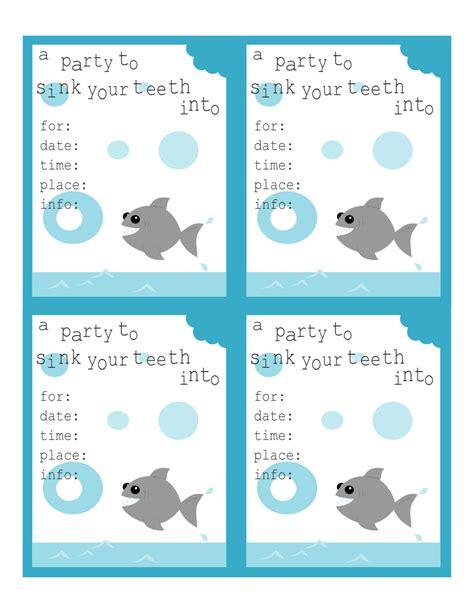 Shark Birthday Invitations Printable Printable Pinterest Shark Birthdays And 13th Shark Birthday Invitation Template
