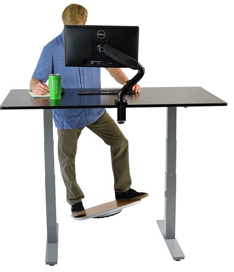 stability for desk standing desk balance board aluminum bamboo office wobble