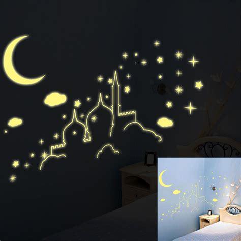 glow in the moon wall sticker papel de parede gal 225 xia vender por atacado papel de