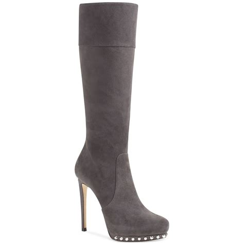 michael kors aileen high heel dress boots in gray