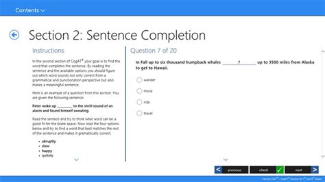 sentence for section cleverly kids cogat 169 practice for 7th 8th grade for