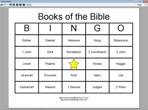 Books Of The Bible Worksheet Printable by Books Of The Bible Bingo 4 Club