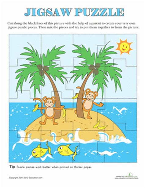 printable maths jigsaw puzzles printable jigsaw puzzle worksheet education com
