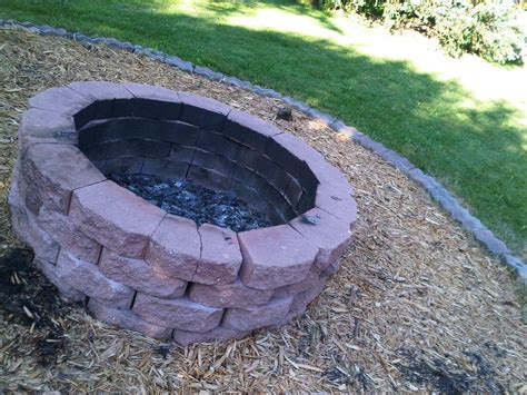 Making A Fire Pit With Rocks Home Improvement How To Build Backyard Pit