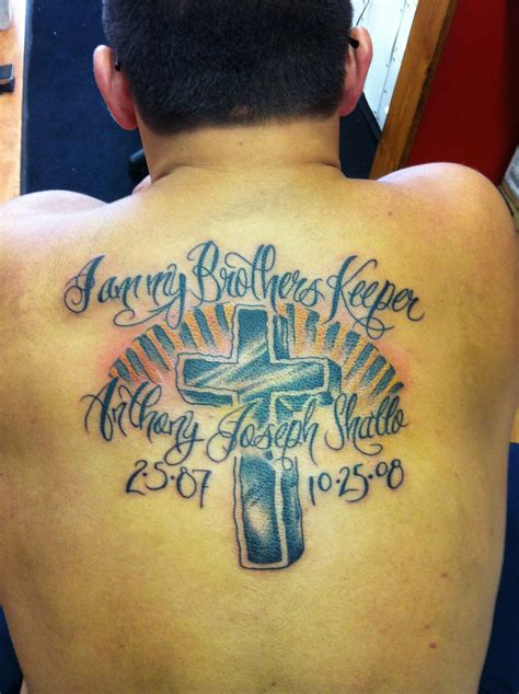 brothers tattoo my brothers keeper picture