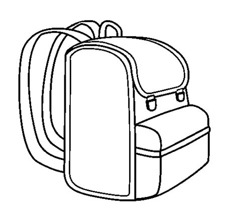 school bag colouring pages page backpack painted by bag