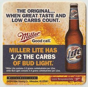 16 miller lite check out your 6 pack 1 2 the carbs of bud
