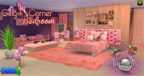 Girly Bedroom Sets | my sims 4 blog girly corner bedroom set by jomsims