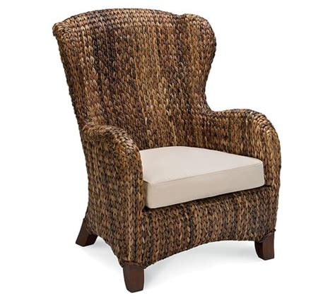 seagrass armchair seagrass wingback armchair pottery barn
