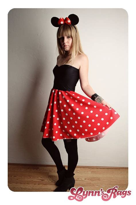 Handmade Minnie Mouse Costume - custom minnie mouse dress handmade disney birthday