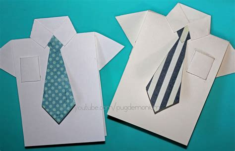 how to make shirt and tie card tutorial s day card shirt tie