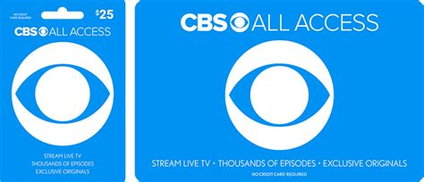 get your cbs all access gift card today cbs com - Walmart Cbs All Access Gift Card