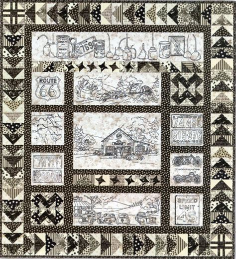 Route 66 Quilt Pattern by Crabapple Hill Quilt Pattern Embroidery 274 Vintage Tin