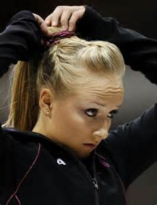 how to wear hair for gymnastic meet the best nastia liukin hair style