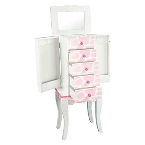 kids jewelry armoire black white pink kids floor standing jewelry armoire zen merchandiser