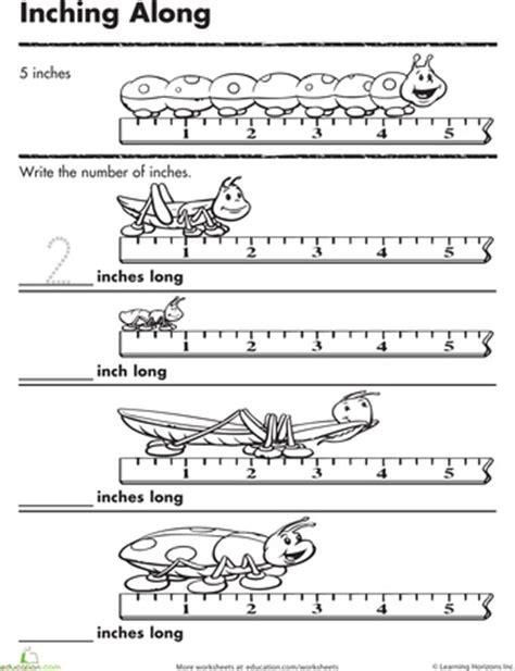 measurement worksheets for kindergarten kids math