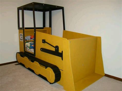 bulldozer bed bulldozer bed diy kids room pinterest beds
