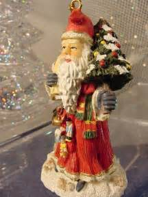 traditional german santa claus christmas tree ornament
