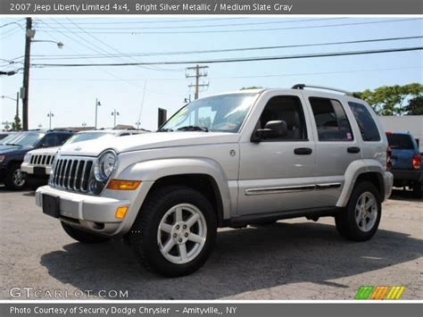 silver jeep liberty 2007 bright silver metallic 2007 jeep liberty limited 4x4