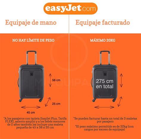 equipaje de mano  equipaje facturado permitido en easyjet