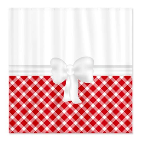 white and red shower curtain makanahele com country chic red and white gingham shower